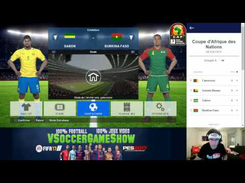 Gabon - Burkina Faso [PES 2017*] | CAN 2017 (Groupe A - 2ème Journée) | CPU Vs. CPU