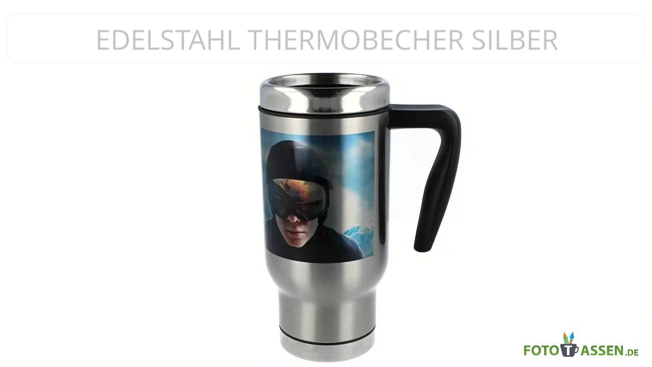 Edelstahl Thermobecher Silber - YouTube