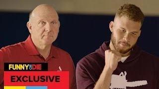 The New Clippers    Logo Blake Griffin And Steve Ballmer Unveil