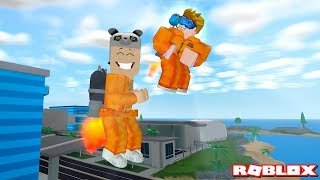 Now we can fly away! Jetpack Bought - Roblox Mad City with Panda