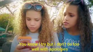 Haschak Sisters -Sorry (Lyrics on Video )