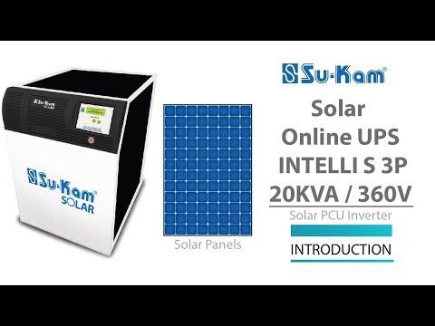 Solar Online UPS 20 KVA / 360V Introduction Solar PCU Inverter - YouTube