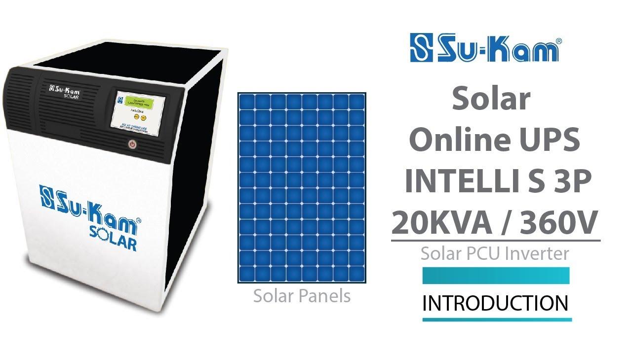 Solar Online UPS 20 KVA / 360V Introduction Solar PCU Inverter
