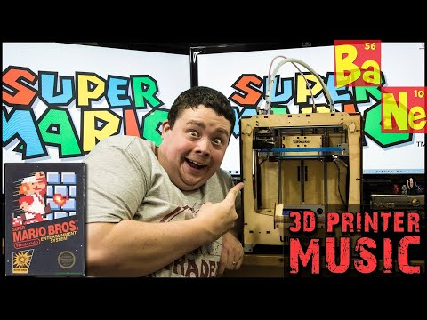 Super Mario Brothers NES Theme Song Played on Ultimaker 3D Printer