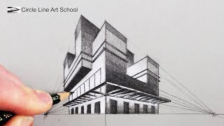 How to Draw in Two Point Perspective: 3D Building