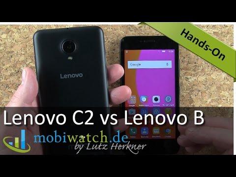 Lenovo C2 vs Lenovo B: Günstige Einsteiger-Smartphones im Vergleich | Hands-on-Video – Test
