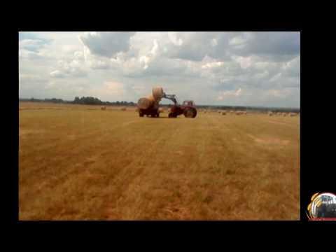 Перевозка рулонов с поля.Последний день
