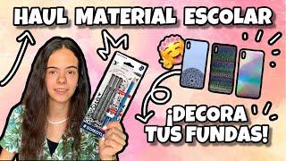 HAUL de material escolar + DECORA tus fundas!! 👈 | @luciolsa