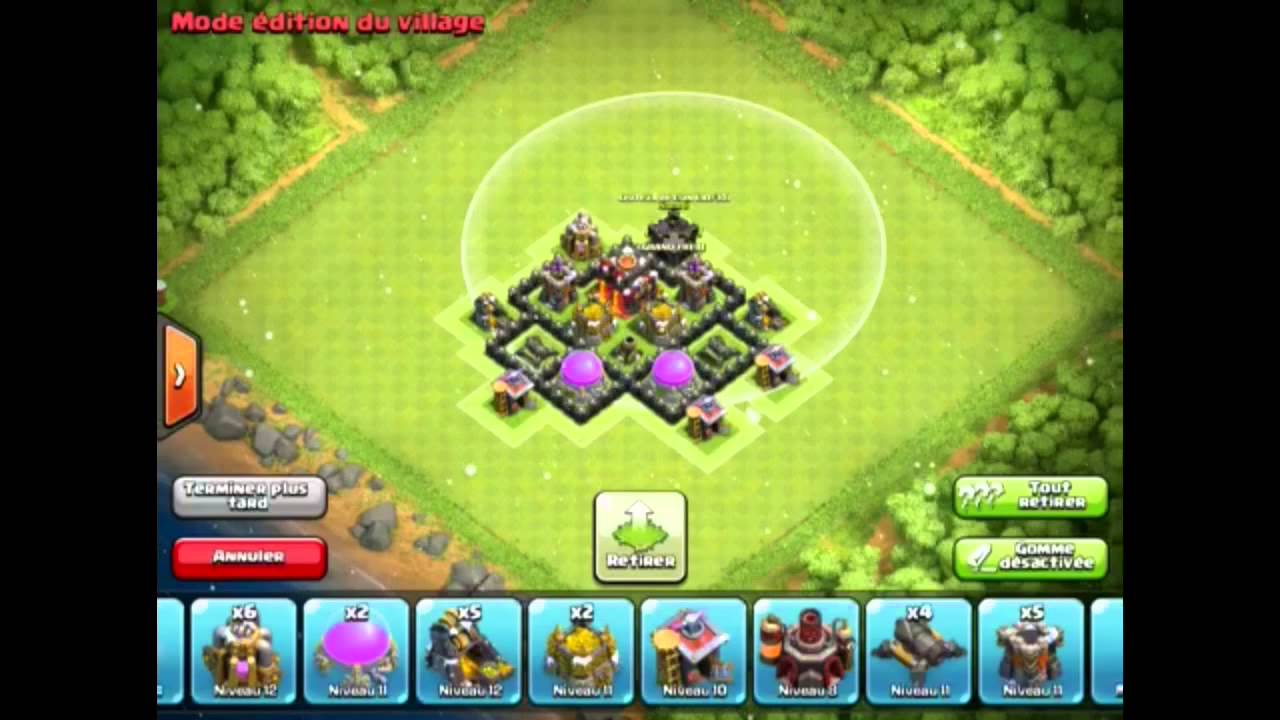 clash of clans fr le meilleur hdv 4 hybride by newhope. Black Bedroom Furniture Sets. Home Design Ideas