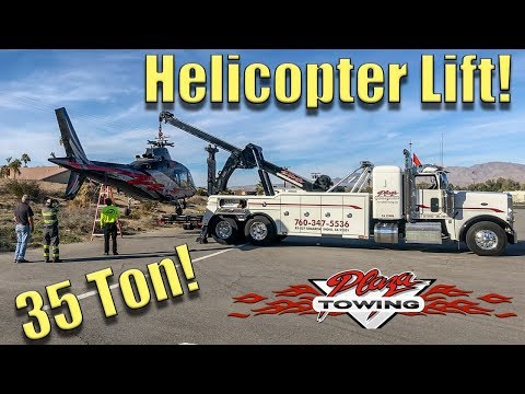 Lifting A Helicopter!!! 35 Ton Wrecker