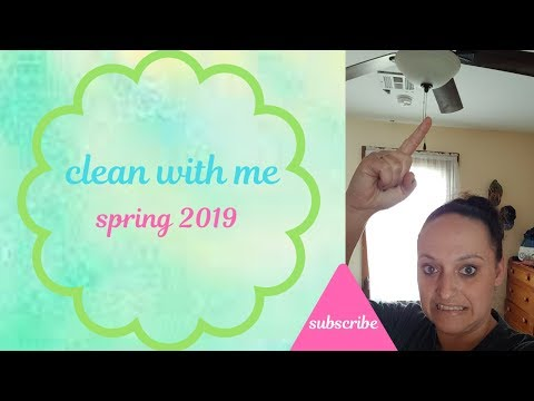 Spring cleaning 2019 /clean with me/ how I clean ceiling fans