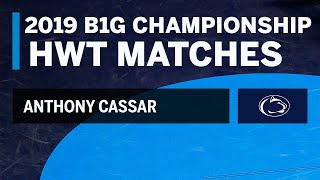 Path to the Heavyweight Title: Every Anthony Cassar Match at the 2019 B1G Wrestling Championships