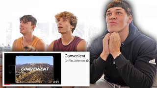 NOAH BECK REACTS TO GRIFFIN JOHNSON'S DISS TRACK!!