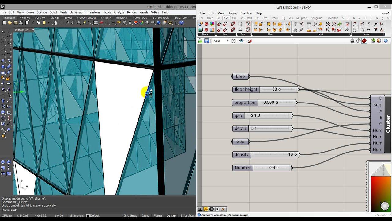 Grasshopper for ArchViz: triangular facade