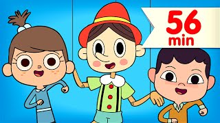 the pinocchio more   kids songs   nursery rhymes   super simple songs
