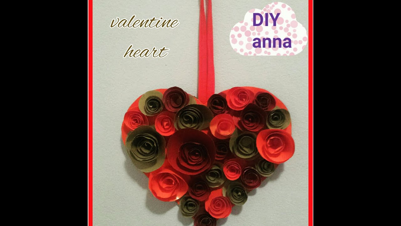 Heart Mothers Day Gift Decoration DIY Valentine Paper Craft Tutorial