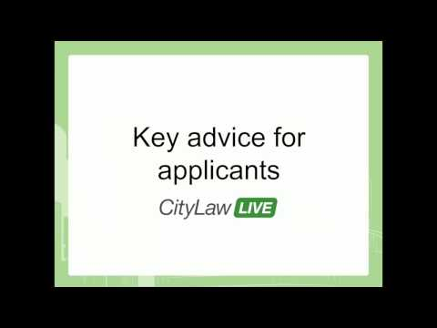 Panel Discussion: Key advice for applicants - CityLawLIVE December 2014