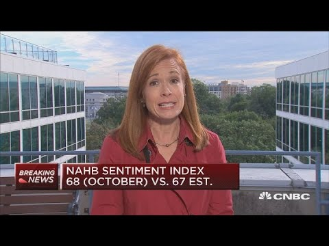 NAHB sentiment index at 68 in October