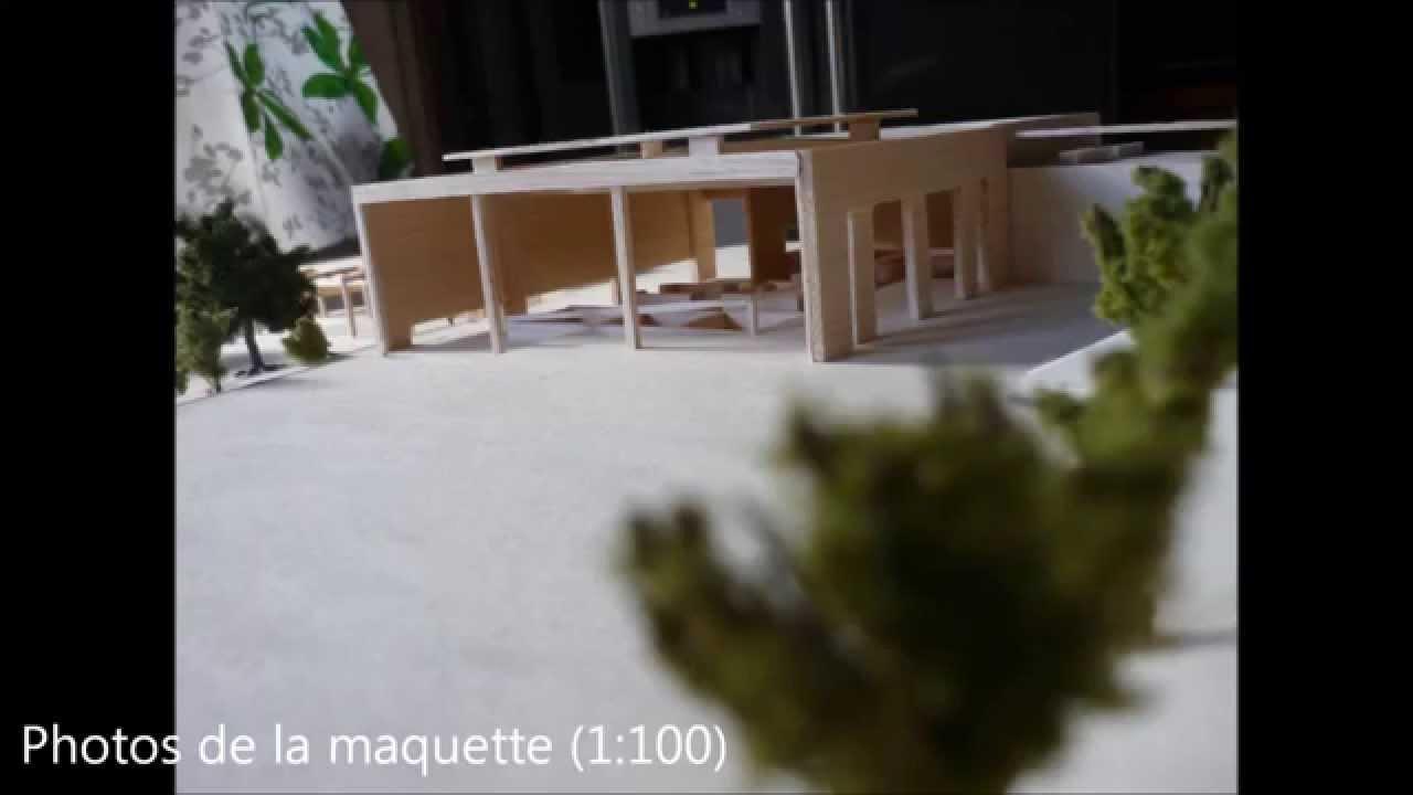 Projet d 39 architecture s3 ensacf un march de faubourg for Projet d architecture
