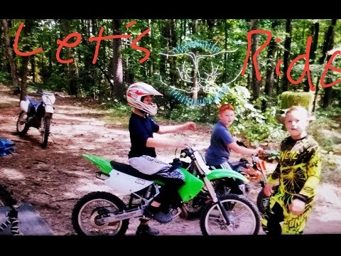 Dirt bikes riding on new bikes and new trails!!