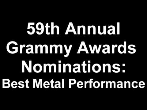 59th Annual Grammy Awards Best Metal Performance Nominees