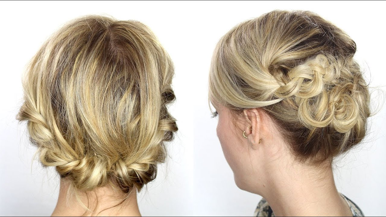 Tutoriel coiffure facile cheveux mi-longs/courts - YouTube
