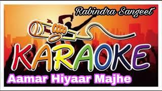Aamar Hiyaar Majhe | আমার হিয়ার মাঝে | Bengali Karaoke Song | Krishna Music | Rabindra Sangeet