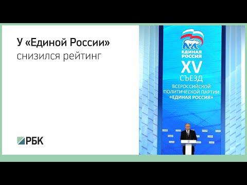 Социологи зафиксировали резкое снижение рейтинга «Единой России»