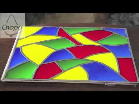 Bandeja con t cnica falsa vidriera vintage youtube - Como hacer una vidriera ...