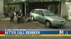 Better Call Behnken: Disabled veteran's car damaged, insurance company won't cover damage