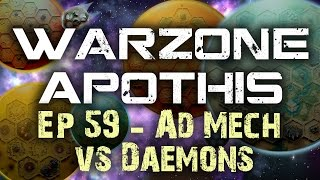 Ad Mech vs  Daemons Chaos Warhammer 40k Battle Report - Warzone Apothis Ep 59