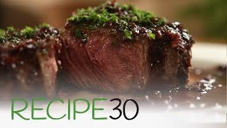 Beef Lover Dream, RIB EYE STEAK WITH RED WINE JUS - By RECIPE30.com