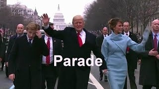 donald trump s inaugural parade the inauguration of donald trump as the 45th president