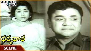 Dharma Daata Movie || Padmanabham Worry About Geethanjali Suffers For Hungry ||ANR || Shalimarcinema