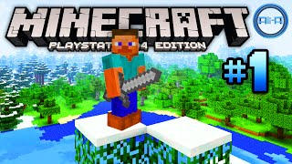 "Minecraft PS4 gameplay Part 1 - ""NEW START!"" - (Playstation 4 Minecraft / Xbox One Minecraft)"