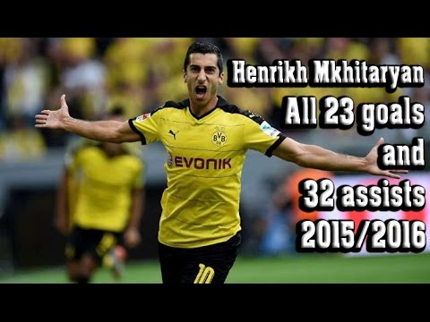 Henrikh Mkhitaryan - All goals & assists in 2015/2016 - 1080p HD