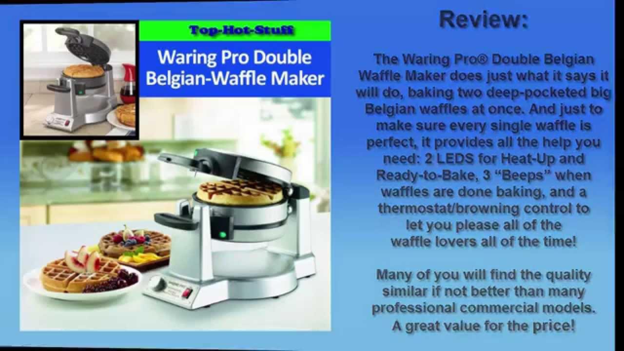 top hot stuff waring pro wmk600 double belgian waffle maker review u0026 - Waring Pro Waffle Maker