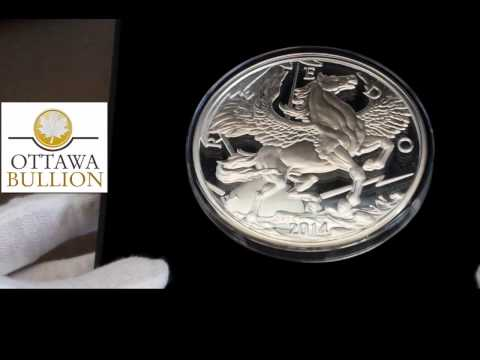 10 oz 2014 Pegasus Silver Proof Round - Buying Silver Rounds in Ottawa