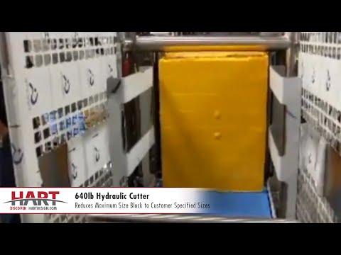 640lb Hydraulic Cutter | Cheese Cutting Equipment | HART Design & Manufacturing
