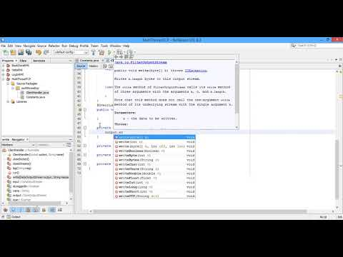 #7 TCP Simple Chat Program Multi Threads Using Java Part 1