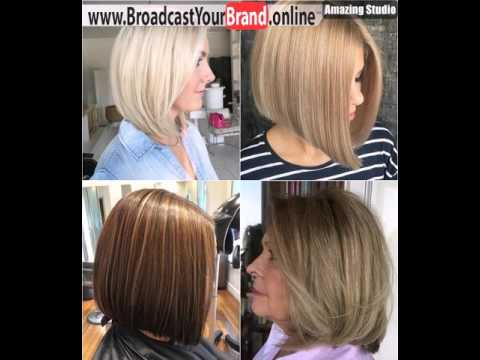 Medium Length Bob Haircut For Thick Hair - YouTube