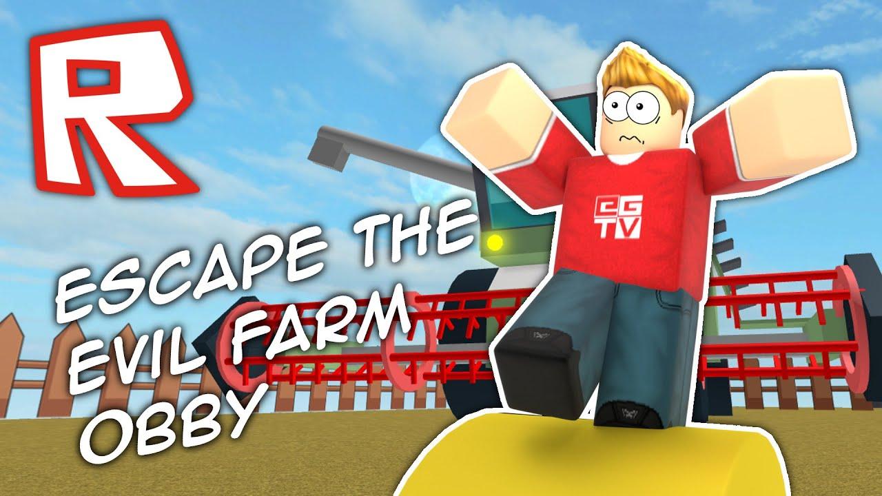 Escape The Evil Farm Roblox Obby Youtube