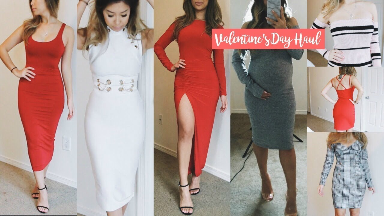 4581b20f6c Fashion Nova Valentine's Day Haul 2018 | HAUSOFCOLOR - YouTube