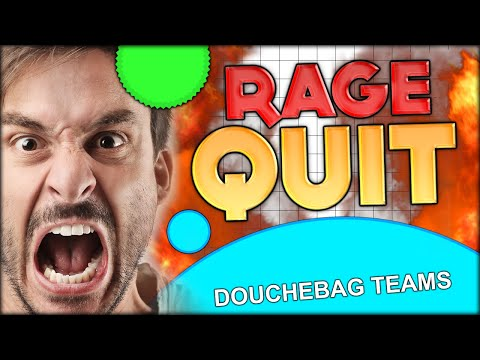 A GUY RAGE QUITS AGAR.IO BECAUSE OF TEAMS ... GUESS WHO IT WAS??? (ADDICTIVE GAME - Agario #64)