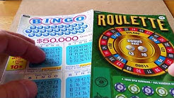 PLAYING ROULETTE $3 CANADIAN SCRATCH OFF~INSTANT GAMES