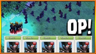 All NIGHT WITCH Attack Strategy vs MAX BH6 CoC June Update 2017