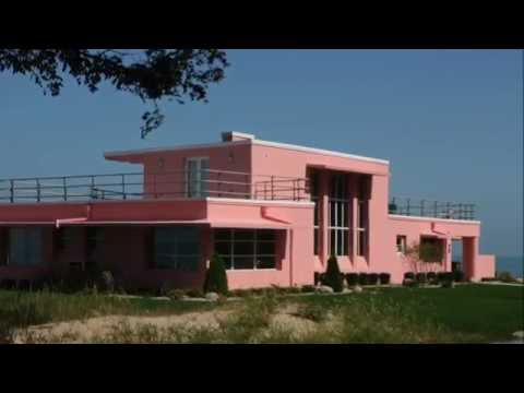 """Beverly Shores Indiana """"Century of Progress"""" homes at the 1933-1934"""