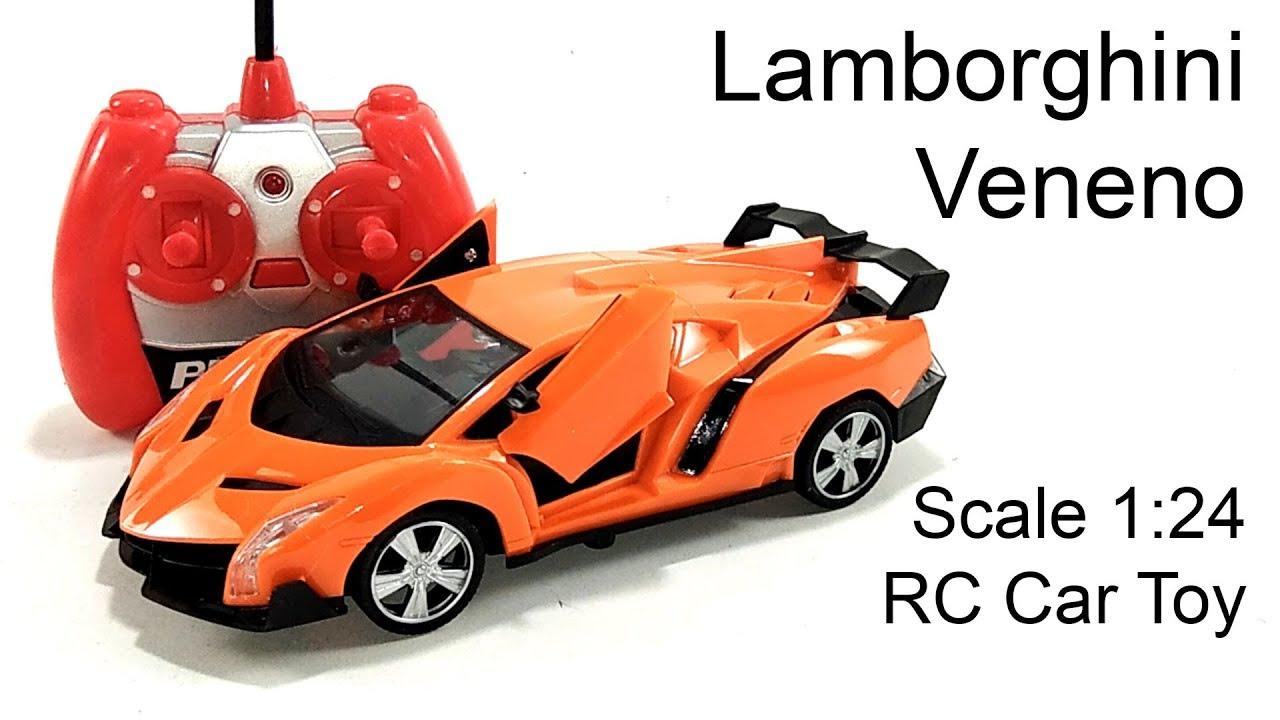 Toy Unboxing Rc Car Lamborghini Veneno Openable Door Scale 1 24