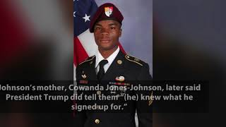 """President Trump Denies Telling Fallen Soldier's Widow """"He Knew What He Signed Up For"""""""