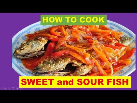 How To Cook Sweet And Sour Fish/ With Simple Ingredients.